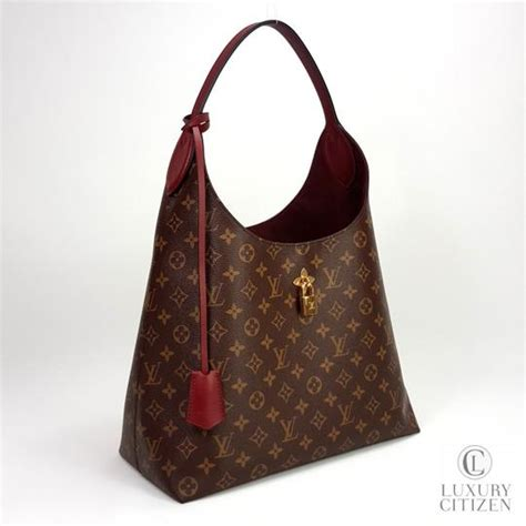 louis vuitton flower hobo monogram  brown bordeaux