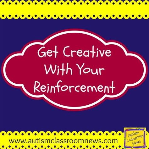 Get Creative With Your Reinforcement Freebie Autism
