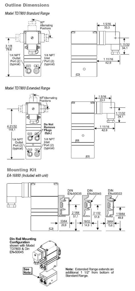 TD7800-401 Fairchild | Electro-Pneumatic Transducer | Valin