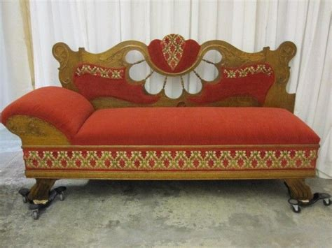 Antique 1800s Lounge Chaise Sofa Unfolds To Bed Extra Nice