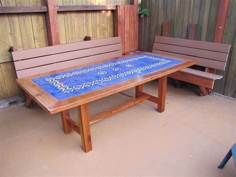 mexican tile coffee table mexican tile in a table top on a deck outdoors mexican