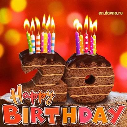 Birthday 20th 40th 10th Card Animated Cake