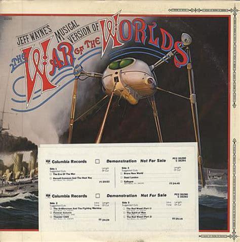 jeff wayne  war   worlds  promo  lp vinyl