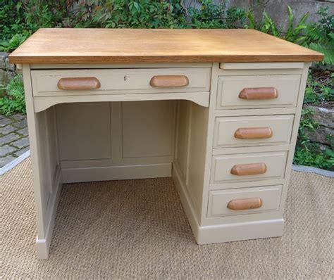 joli bureau ancien bois peint modele ées 1950