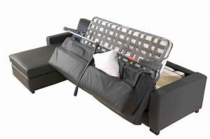 canape lit lampolet avec coffre de rangement canape inn With canapé lit avec sommier