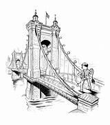 Bridge Suspension Roebling Drawing Leetaru Brooklyn Draw Lars Getdrawings John sketch template