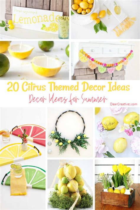 lemon decor ideas lemon diy crafts  home decor dear