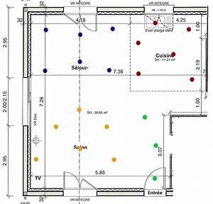 Repartition Spot Led Plafond : sch ma lectrique choix de spots encastr s 13 messages ~ Melissatoandfro.com Idées de Décoration