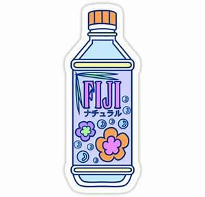 """""""Aesthetic Fiji Water Bottle!"""" Stickers by PennySoda"""