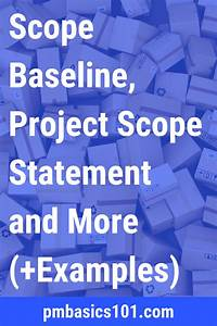Project Scope Example  Scope Baseline  Project Scope Statement