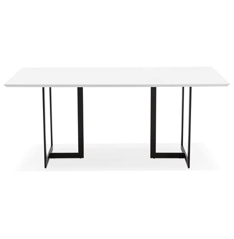 table bureau blanc table design titus en bois blanc bureau moderne 180x90 cm
