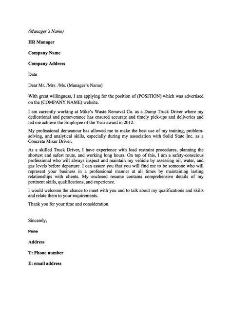 Cover Letter For Inexperienced Inexperienced Truck Driver Resume Sales Driver Lewesmr