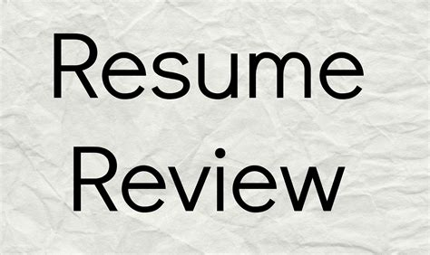 Resume Review by Carroll Crowson Baylor Edu Career Corner