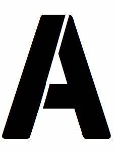 amazoncom 16x20 large letter stencil from 4 ply mat With large letter stencils amazon