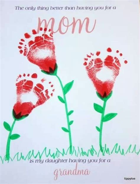 baby feet mothers day idea crafts  kids crafts