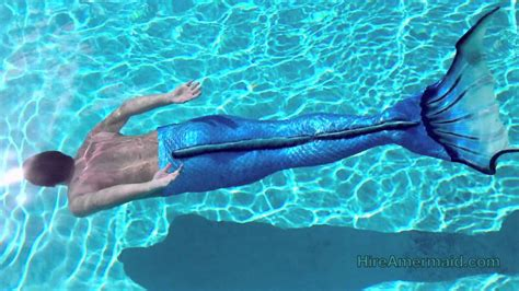 Real Life Merman Swimming