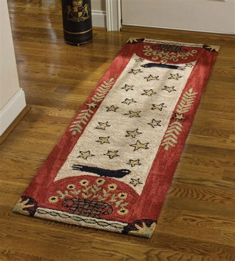 Teal Blue Living Room Decor by Primitive Country Style Rugs