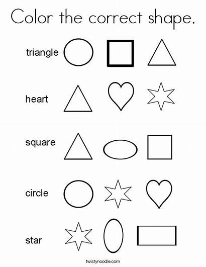 Coloring Shape Correct Shapes Colors Learning Books