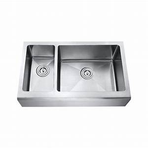 33 inch stainless steel smooth flat front farmhouse apron With 33 inch farmhouse apron sinks