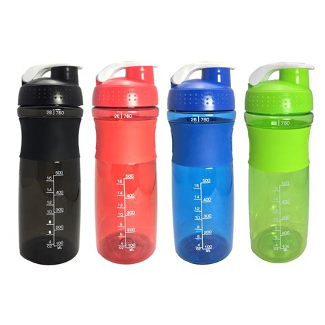760ML Sports Shaker Bottle With Whisk Ball Sports Whey