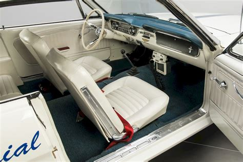 Auto Upholstery Indianapolis by Pace Car White 1964 Ford Mustang Indianapolis Pace Car