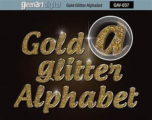 50 off sale gold glitter alphabet clipart digital glitter With gold glitter alphabet letters