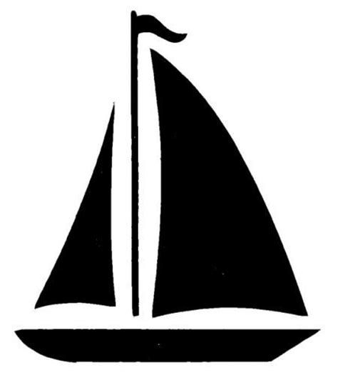 Simple Clipart Boat by Simple Sailboat Silhouette Google Search Nautical