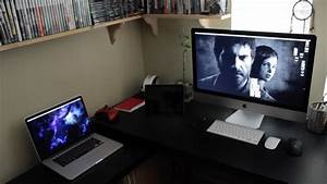 My mac desk tour gaming setup home office 2013 youtube for Home office gaming computer