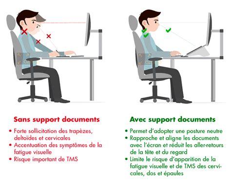 posture bureau support de documents quels bénéfices sur ma posture