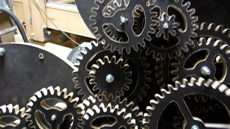 complex wooden clock mechanism test run diy cnc project youtube