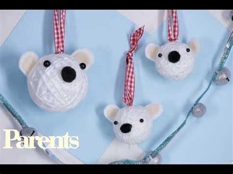 christmas crafts polar bear christmas ornaments parents