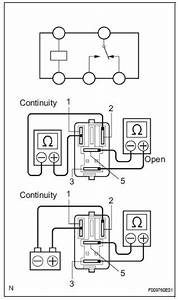 Toyota Sienna Service Manual  Open Or Short Circuit In Abs Motor Relay Circuit