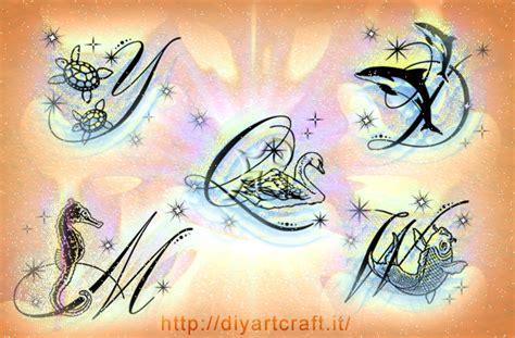 tatoo con lettere 26 lettere in omaggio al mondo animale diyartcraft