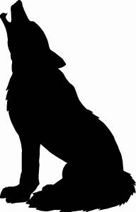 Howling Wolf Silhouette - ClipArt Best
