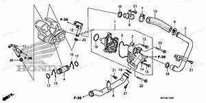 Honda Motorcycle 2010 Oem Parts Diagram For Water Pump
