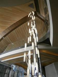 Modern lighting for foyer entry stairway lights
