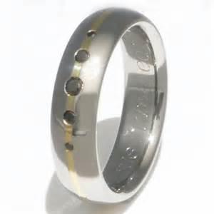 titanium wedding bands with diamonds black titanium wedding ring bd15