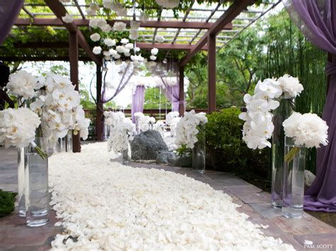 romantic wedding decor completed with an elegant view