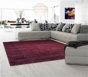 tapis shaggy lila en grande taille 200x290cm With tapis salon grande taille