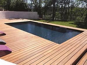 Piscine Enterrée Rectangulaire : piscine bois forme rectangulaire marseille bluewood ~ Farleysfitness.com Idées de Décoration