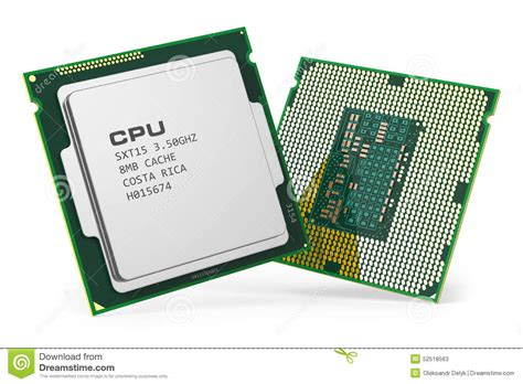 CPU chips stock illustration. Image of internet, processor ...