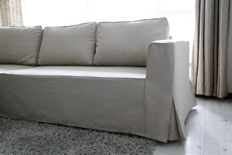 custom ikea manstad sofa bed cover loose fit style by