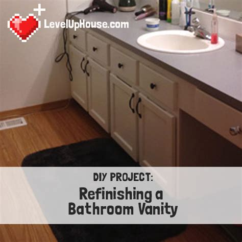 how to refinish bathroom vanity cabinets refinishing a wood bathroom vanity part 1 preparation 25477