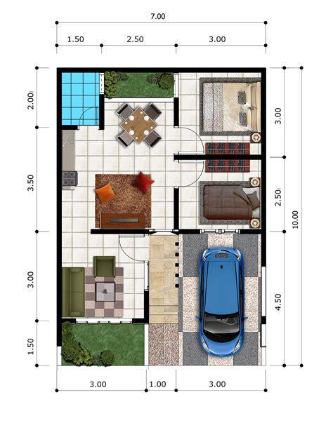 berikut  denah rumah minimalis type   bogir