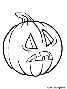 Citrouille Halloween Dessin : coloriage citrouille halloween peur ~ Melissatoandfro.com Idées de Décoration