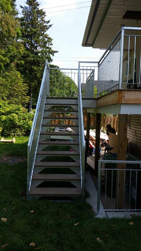 escalier metallique exterieur prefabrique escalier droit