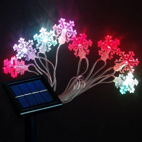 solar snow string light