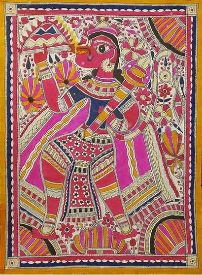 Mithila Painting Arts Indigo
