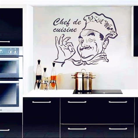 kitchen wall stickers chef de cuisine removable wall