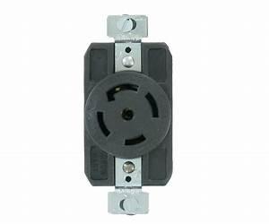 Nema L21 208v 3 U00d8y Grounding Locking Receptacle